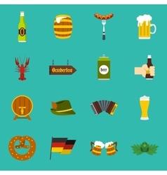 Oktoberfest icons set flat style vector image vector image