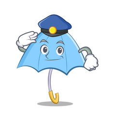 police umbrella chracter cartoon style vector image