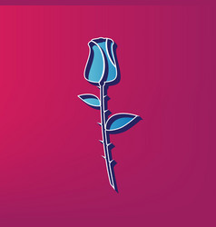 Rose sign blue 3d printed vector