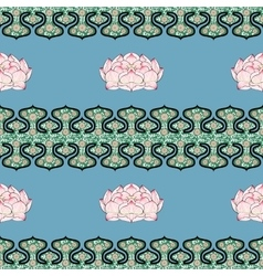 Seamless pattern with chinese ornament peony vector image vector image