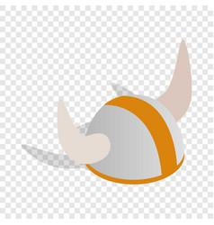swedish viking helmet isometric icon vector image