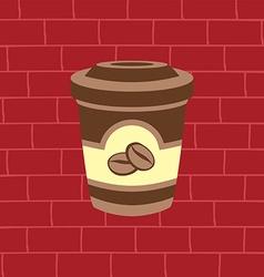 Sweet coffee latte vector