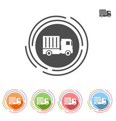 Truck icon in a flat style vector