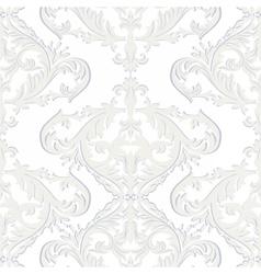 Vintage baroque ornament pattern vector