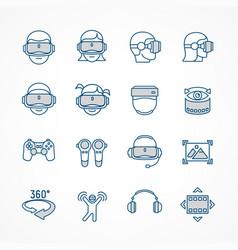 virtual reality linear blue vector image vector image