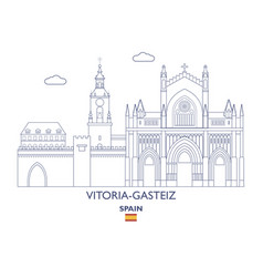 Vitoria-gasteiz city skyline vector