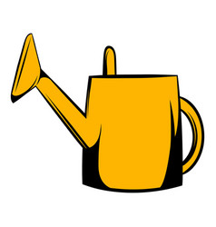 watering can icon cartoon vector image