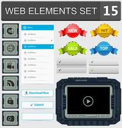 Web elements set 15 vector image vector image
