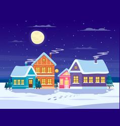 Winter landscape composition vector