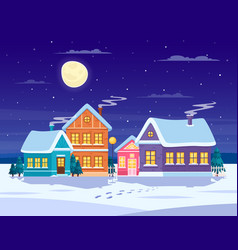 winter landscape composition vector image vector image