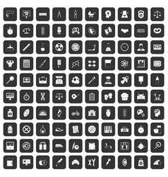 100 libra icons set black vector