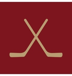 The hockey icon game symbol flat vector