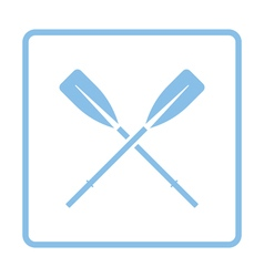 Icon of boat oars vector