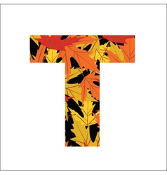 T Letter vector image