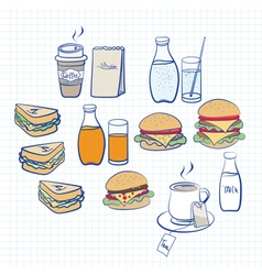 Food and beverage vector image