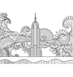 spring in new york city vector image
