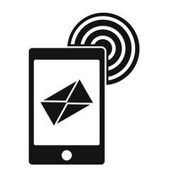 mobile mail sign icon simple style vector image