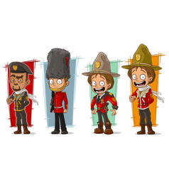 Cartoon soldier and rangers character set vector