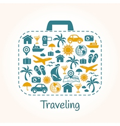 Travel holiday suitcase vector image