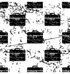 Briefcase pattern grunge monochrome vector