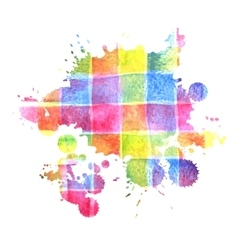 Colorful watercolor stain for design vector