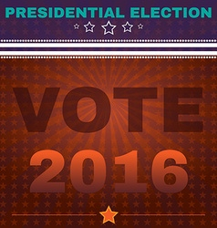 Usa presidential election vote 2016 banner vector