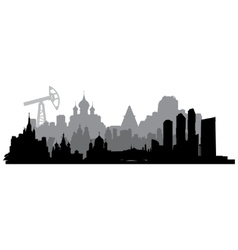 Russia silhouette vector image