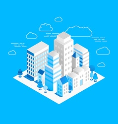 City landscape isometric vector