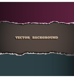 Border of torn paper vector