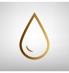 Drop of water sign flat style icon vector