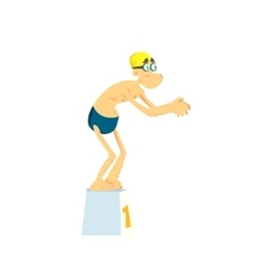 Old man in the pool vector