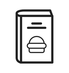 Fast food recipes vector