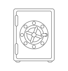 Strongbox box security safe money vector