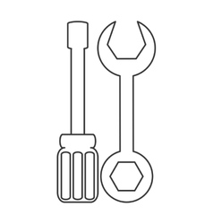 Screwdriver and wrench icon vector