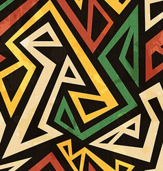 african geometric seamless pattern with grunge vector image vector image