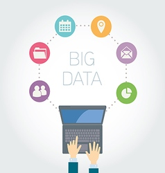 Analyst big data icons vector
