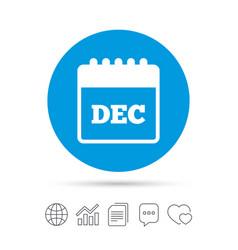 Calendar sign icon december month symbol vector