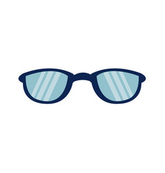 Cartoon glasses accessory fashion protection icon vector