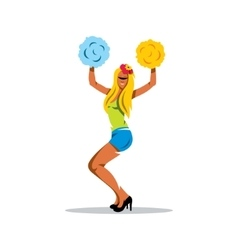 Cheerleading Cartoon vector image