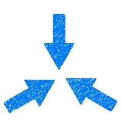 Collide 3 arrows grainy texture icon vector