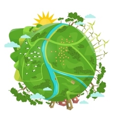 Eco friendly ecology design green planet vector