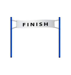 finish flag in retro design vector image