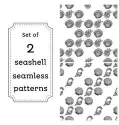 Geometric seamless pattern of seashells vector