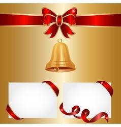 golden bells vector image