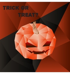halloween poster with scary pumpkin head in vector image