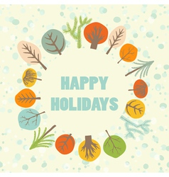 Happy holidays greeting card vector image vector image