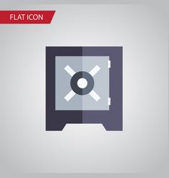 isolated strongbox flat icon protection vector image