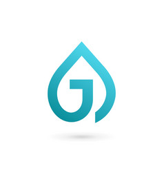 Letter j water drop logo icon design template vector
