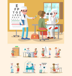 medical treatment ophthalmology composition vector image vector image