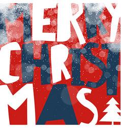 Merry Christmas Greeting Card Postcard xmas design vector image